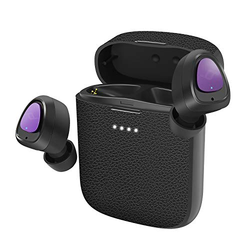 Letscom True Wireless Earbuds, Bluetooth 5.0 Headphones, 3D Stereo Sound, Mini in-Ear Sports Earphones for Running Gym Workout, Lightweight Wireless Headset with Mic Charging Case