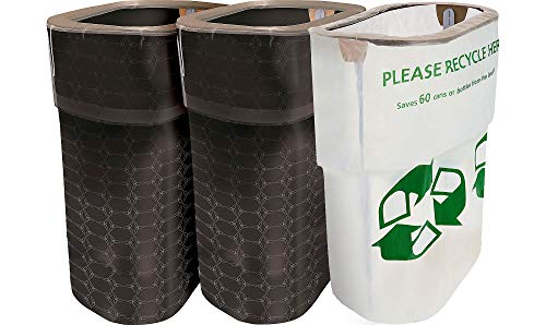 Party City Black Clean-Up Kit, 3 Pieces, With Matching Reusable Pop-Up Trash Bins, Plus a Handy Recycling Bin ()