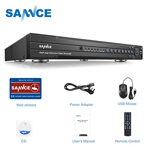 SANNCE 16 Channel 1080P(2MP) 5-in-1 Network DVR Surveillance