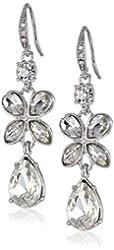"""Carolee """"Butterfly Blooms"""" Linear Drop Earrings"""