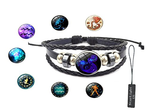 12 Constellation Hand-made Bracelet - 8 Different styles - Makes you different every day. (Aquarius)