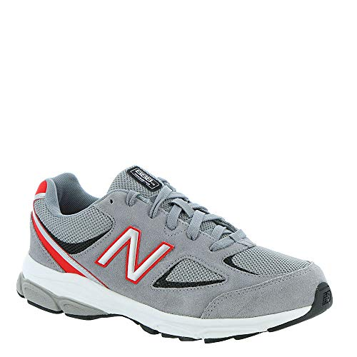 New Balance Boys' 888v2 Running Shoe, Steel/Velocity RED, 3.5 M US Big Kid ()