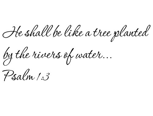 Tapestry Of Truth - Psalm 1:3 - TOT2570 - Wall and home scripture, lettering, quotes, images, stickers, decals, art, and more! - He shall be like a tree planted by the rivers of water... Psalm 1:3 (A Tree Planted By Rivers Of Water)