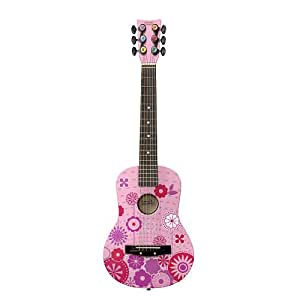First Act Discovery Designer Acoustic Guitar - Pink Circle Graphics
