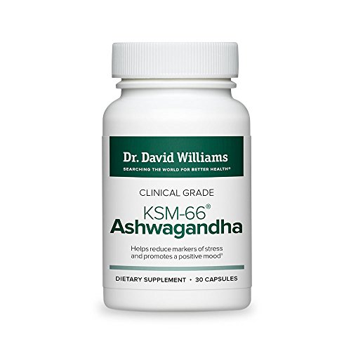 Cheap Dr. David Williams Clinical Grade KSM-66 Ashwagandha (600 mg) Helps Brighten Your Mood, Relieve Stress and Improve Energy Levels, 30 Capsules (30-Day Supply)