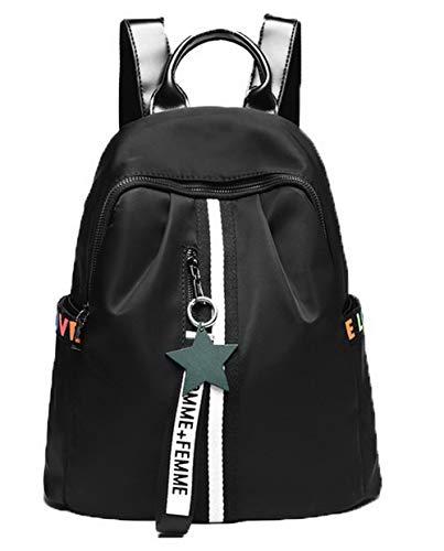 Noir Mode bandoulière Daypack à Sacs Sacs Dos à Femme Zippers Tourisme AllhqFashion Noir FBUFBC181812 IxYAqBOnq