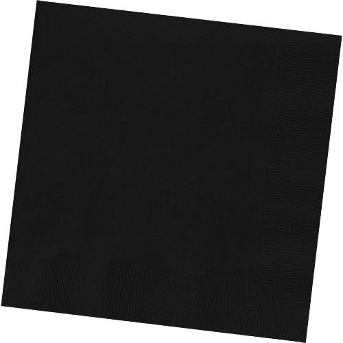 Big Party Pack Jet Black Beverage Napkins | Pack of 125 | Party Supply