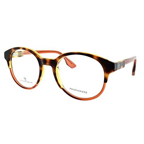 Alexander McQueen MCQ 0050 G21 Havana Orange Round - Alexander Eyeglasses Mcqueen