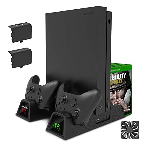 FastSnail Vertical Stand Compatible with Xbox One with Cooling Fan, Cooler and Controller Charging Stand Compatible with…