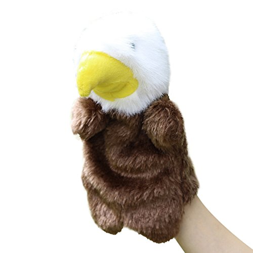 (Brightric Cute Eagle Hand Puppet Baby Kids Children Soft Doll Plush Preschool Toys)