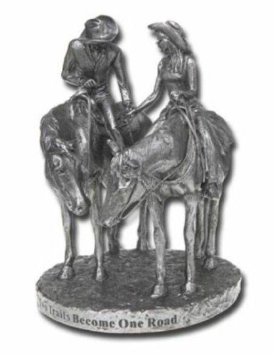 Western HORSES cowboy WEDDING CAKE TOPPER statue