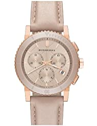 Burberry Chronograph Rose Dial Rose gold-tone Unisex Watch BU9704