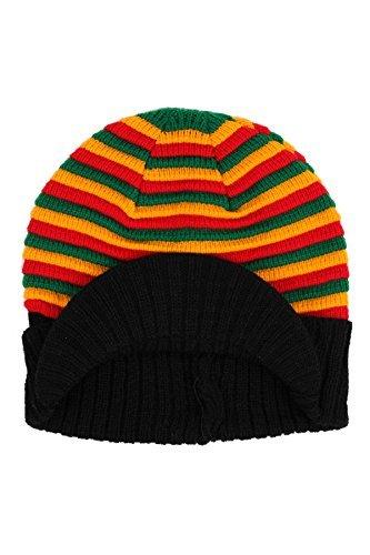 Rasta Gestrickt Gestreifte Beanie-mütze Ski Hut Kappe