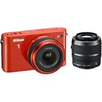 Nikon 1 J2 10.1 MP HD Camera w/ 11-27.5mm f/3.5-5.6 and 30-110mm VR Lenses (Orange) [Unknown Binding]
