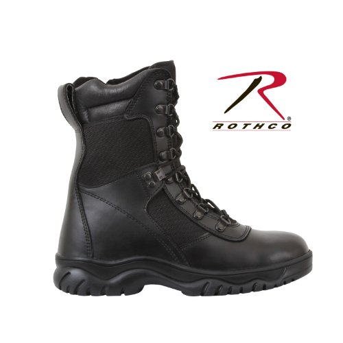 Rothco 8'' Forced Entry Side Zip Tact Boot, Black, 12 - Rothco Nylon Boot