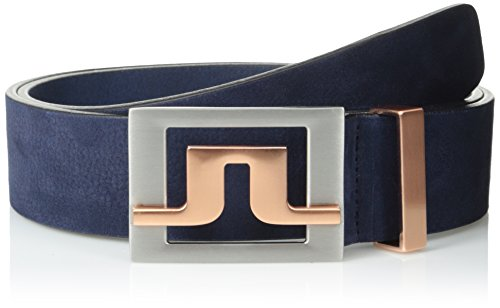 J Lindeberg Slater Belt (J.Lindeberg Men's Slater 40 Brushed Leather Belt, Navy/Purple,)