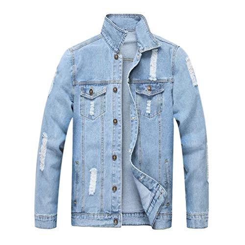 Tookang Tookang Tookang in in in in Blu Uomo sul Capispalla Outwear 01 Jeans Giacche Petto Retro Cappotto con Jacket Jeans Tasche Trucker Denim Giacca di qAwrUAXt