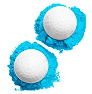 J&M Gender Reveal Golf Ball for Baby Showers and Reveal Parties. All Natural Holi Powder. 2 Pack.
