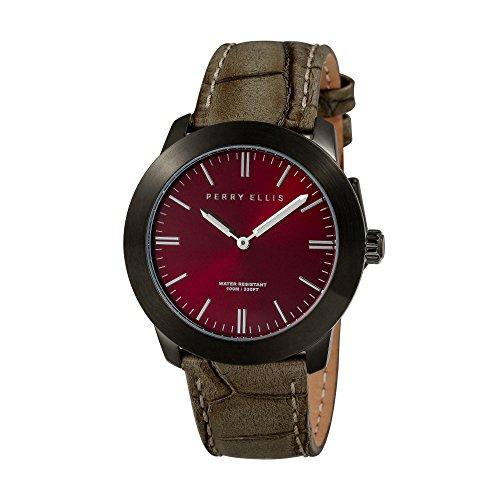 Perry Ellis Slim Line Unisex 42mm Quartz Watch 07011-01