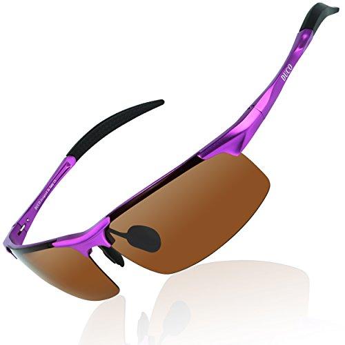 DUCO Mens Sports Polarized Sunglasses UV Protection Sunglasses for Men 8177s (purple) -