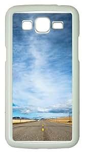 Samsung Grand 7106 Case, Samsung Grand 7106 Cases -Road met the sky Custom PC Hard Case Cover for Samsung Grand 2/7106 White