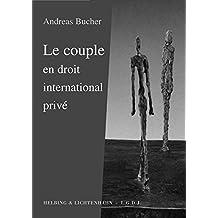 Le couple en droit international privé