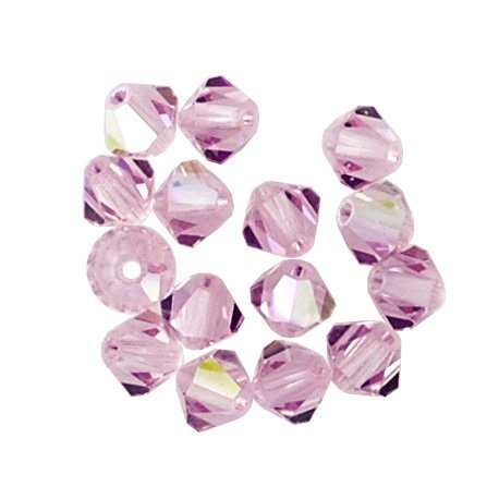 (100 pcs  3mm Swarovski 5301 Crystal Bicone Beads, Light Amethyst AB, SW-5301)