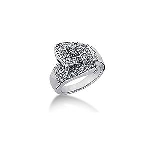18K Wide Set Lock Round Brilliant Diamond Anniversary Ring (0.64ctw.)- Size 8.25