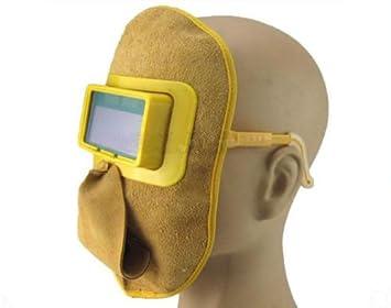 Cómodo oreja de cuero para soldar capucha casco lentes de filtro de oscurecimiento automático: Amazon.es: Hogar