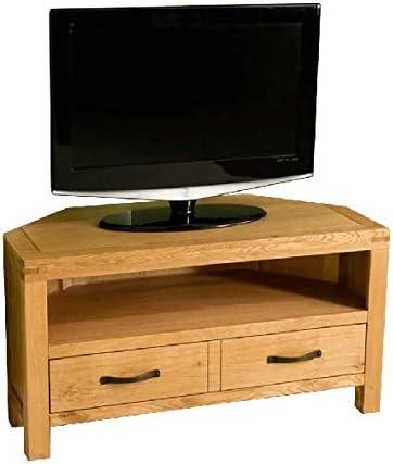 Abbey - Mueble esquinero para televisor (Madera de Roble): Amazon ...