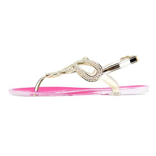 Chemistry® Infinity Donna Gladiatore Romano Infradito Sandalo Piatto Regolabile Cinturino Alla Caviglia Scarpe Rosa
