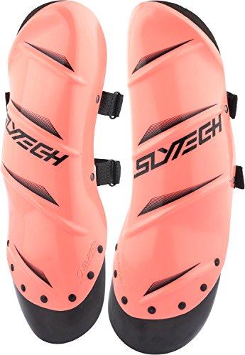 SlyTech Ski Racing Shin Guards, Plastic Shin Guards, Shin Protection, Ski Racing Protection, Rust, (Slytech Shin Guards)