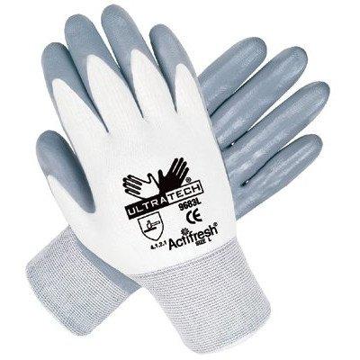 Ultra Tech® Nitrile Coated Gloves - 13 ga nylon shell 100% nitrile dip palm/fingers [Set of 12]