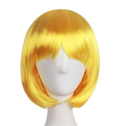 Short Straight Cosplay Bob Women Wigs Brown Blonde Black Gre