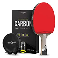 Take Your Ping Pong Game to the Next Level...        Dominate the Competition...        Have More Fun!               The PRO-SPIN Carbon Performance-Level Table Tennis Racket is the ultimate choice for anyone ready to take ping pong to...