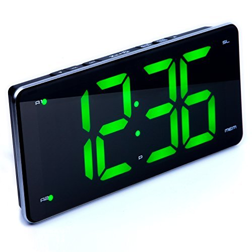 Ultra Large Display Alarm Clock Radio, Large Number Clock, LED Digital Clock with 9.5