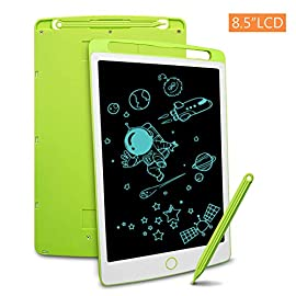 Sunvook 12 Inch Colorful Writing Doodle Pad Digital eWriter Electronic Graphics Tablet Portable Drawing Board with Memo Notebook for Kids Adult Home School Office LCD Writing Tablet Pink