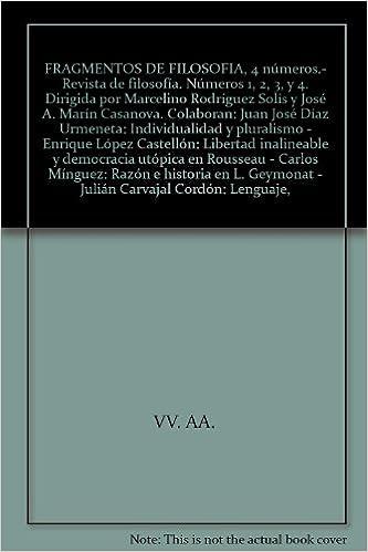 Amazon.com: FRAGMENTOS DE FILOSOFIA, 4 números.- Revista de ...