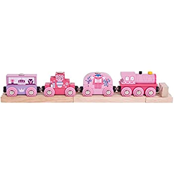 Bigjigs Rail Wooden Princess Train - Other Major Rail Brands are Compatible