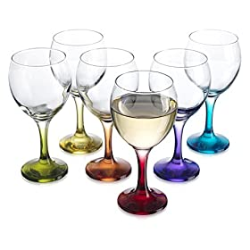 Carnival Color, Wine Glass 10 OZ Party Color Set o...