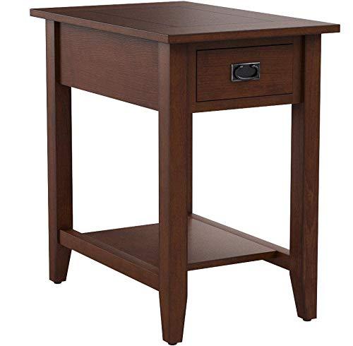 Jofran Chairside Table in Mission Oak Finish