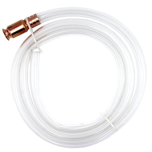 Royitay Gas Siphon Pump Gasoline Fuel/Water/Shaker Siphon Safety Self Priming Hose 6ft 1/2'' Valve for Water Gas Fuel Oil Beer Automotive Fluid by Royitay