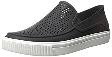 Crocs Men's Citilane Roka Slip-On M Flat, Black/White, 10 M US