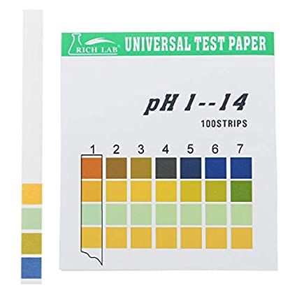 Amazon com: Universal PH Test Strips Full Range 1-14 Indicator Paper
