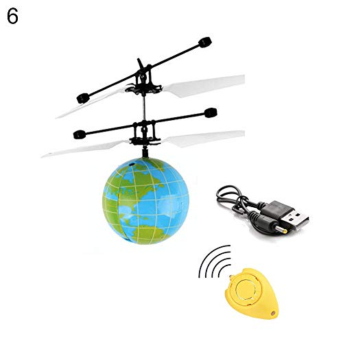 dds5391 Educational Toys Suitable Children All Ages Kids Mini IR Sensing RC Helicopter Aircraft Flying Ball Toys Built-in LED Light - 6#