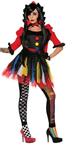 Womens Scary Clown Costumes (Forum Novelties Women's Twisted Attraction Clown Costume, Multi, Medium/Large)