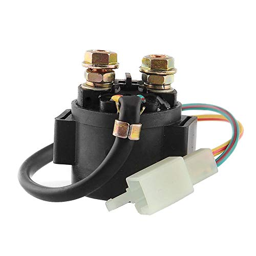 Motorcycle Starter Solenoid Relay for 4-Stroke GY6 Engine 50cc 150cc 200cc 250cc ATV Dirt Bikes Scooters Go Kart Dne Buggys Quad 4 Wheelers Pit Bike Moped Roketa SSR Taotao Sunl Coolster