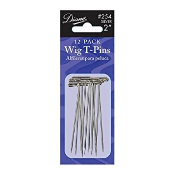 "Diane Wig T-pins * 2"" Long * Silver * Package ..."