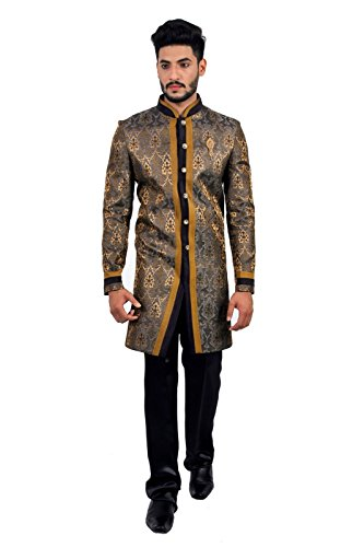Multicoloured Charming Indian Wedding Indo-Western Sherwani for Men by Saris and Things