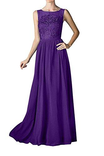Elegant Rock La Linie A Spitze Braut Ballkleider Abendkleider Chiffon Lang Abschlussballkleider Partykleider mia Lila BaqgxaR